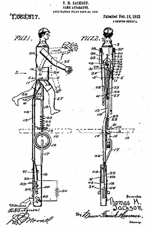 was invented by Thomas H. Jackson of Scranton, Pennsylvania. He received a patent for it in 1913 and that summer began entertaining fans with his device in Atlantic City; Washington, D.C.; Rochester; and his own hometown.