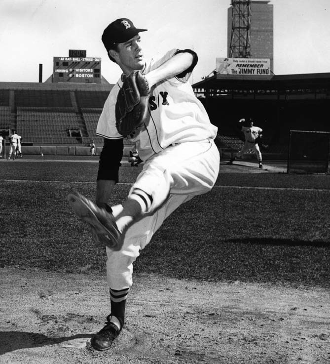 In 1965, the Red Sox promoted him from Triple-A to Boston to protect him from the draft. A year earlier they did the same with Tony Conigliaro. These two players benefited from the early look they got and were key players in 1967, when Lonborg won 22 games and had a career year.