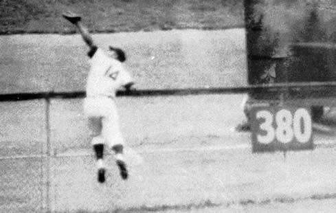 At Municipal Stadium, Cleveland, July 30, 1954.