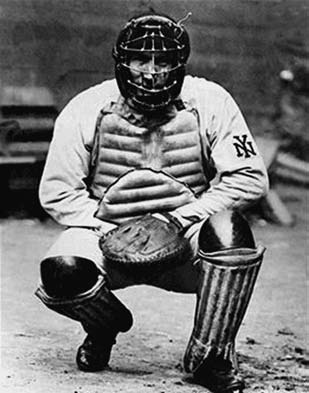 On Opening Day at the Polo Grounds against the Phillies in 1907, future Hall of Famer became the first catcher to wear the full suit of armor, or
