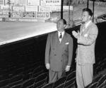 Atlanta Crackers owner stands with the famed evangelist in May 1950.