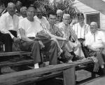 At Bradenton in the early 1950s. Roland Hemond is in the front, second from left, and Doc Gautreau is in the second row over Hemond's left shoulder.