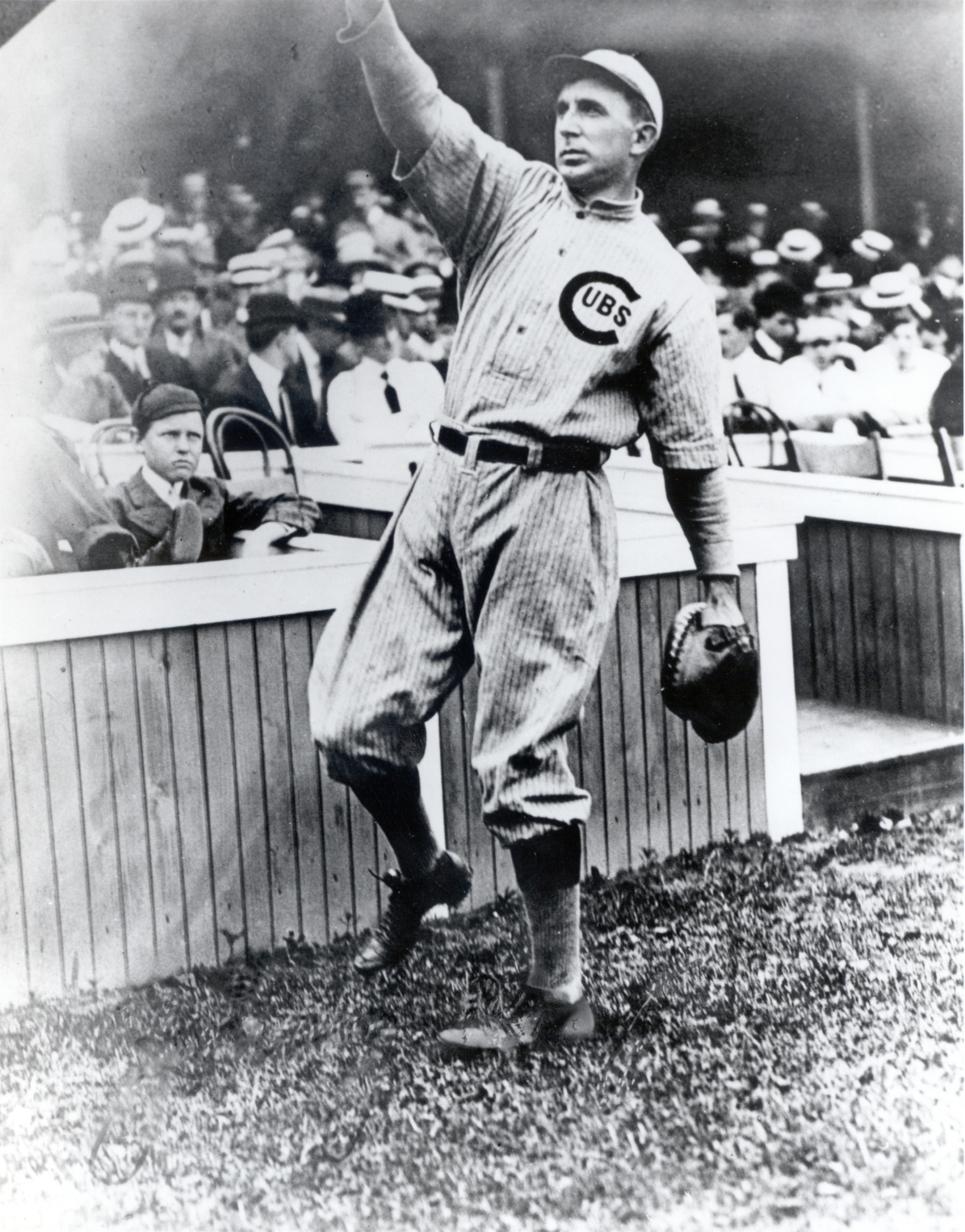 Shown in 1910, when he returned to the Cubs after holding out for a full season. An inconsistent but often excellent hitter, Kling was prized for his acumen, grit, and knowledge of pitchers.