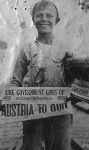 as a newsboy in 1918 at San Pedro Submarine Base.