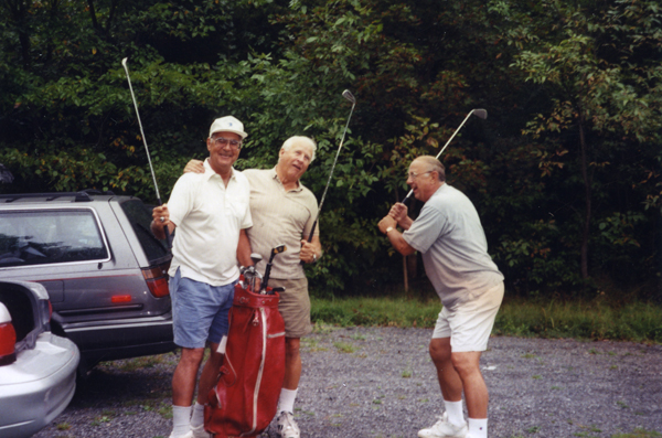 Left to right: the late Gil Bassetti, Dick Teed, Bobby Miske. Miske was inducted into the Scouts Hall of Fame, in Newburgh, New York, in July 2010.