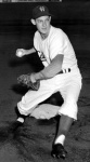 Playing second base for the Fort Worth Cats in 1955.
