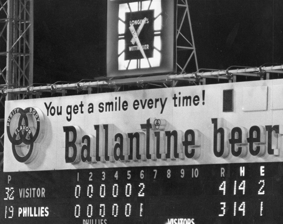 It is 1:25 a.m. on August 18, 1964 as the Phillies drop a 16-inning contest to the Cubs, 4-3, that took nearly five hours to complete.