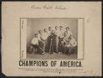 """This 1865 photograph of the Atlantics of Brooklyn by Charles H. Williamson depicts the """"Champion Nine"""" of 1864 and was given to opposing teams who played The Atlantic Club."""