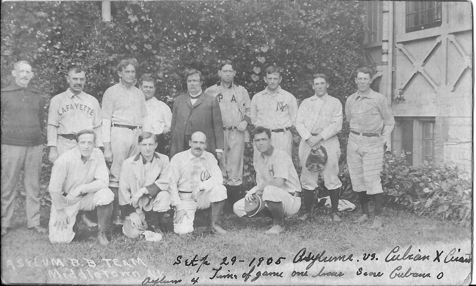 "Set the record for collective team batting average for a season at .350. Tuck Turner (back row, far right) hit .418, better than all three mem- bers of the ""Hall of Fame"" outfield, Ed Delahanty (.404), ""Sliding Billy"" Hamilton"