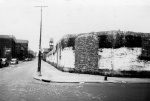 By 1948, only the low outer wall of National League Park remained. Photo shows 15th Street where the dead and injured fell 45 years earlier.