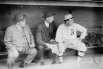 Philadelphia A's manager is seen with coach Ira Thomas, right, in 1911.