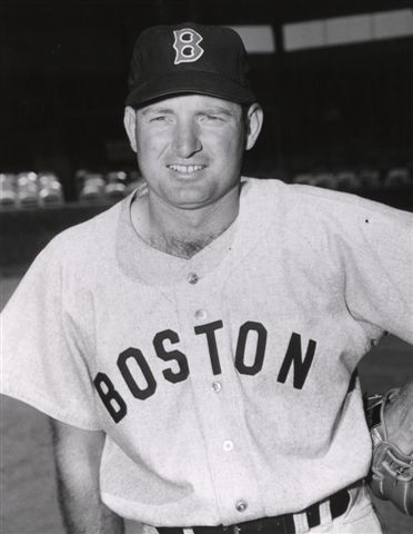 joined his one-time batting rival Ted Williams in Boston when he was traded to the Red Sox in 1952.