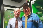 Pictured at right with John O'Dell of the Baseball Hall of Fame.