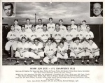 """Promotional team photo given to fans labeled """"FIL Champions 1952."""""""