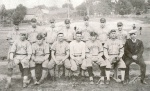 Clyde Sukeforth is third from the left in the back row. Four other players on this team played in the big leagues.