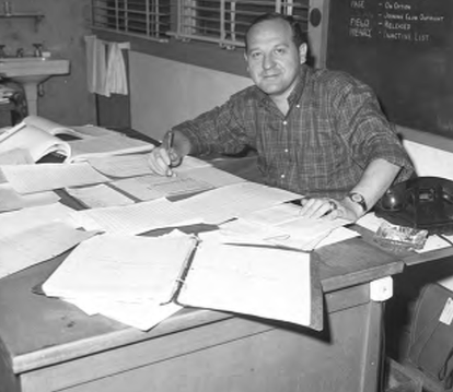 After Branch Rickey's departure, Roth went from providing stats to the Dodgers front office and manager to providing them to the broadcasters and press corps.