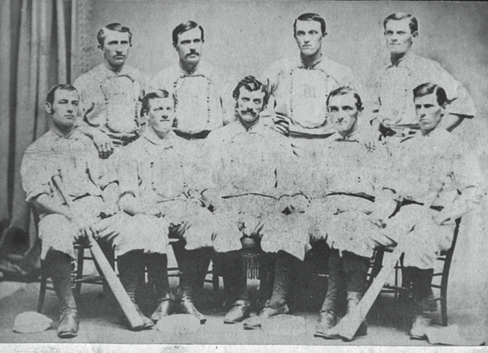 Back row: Candy Nelson, Phonney Martin, Marty Swandell, Dave Eggler. Front row: Everett Mills, John Hatfield, Charlie Mills, Rynie Wolters, Tom Patterson.