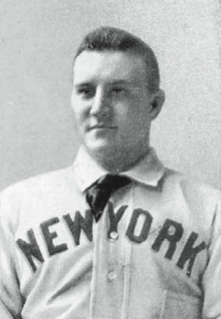 New York Giants fireballer won 33 games in 1891 but did not pitch against Boston down the stretch.