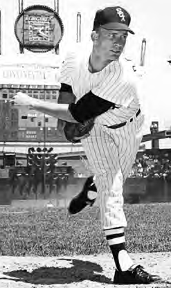 White Sox southpaw ace in the mid-1960s led the AL in ERA in 1963 and 1966 and victories in 1964.
