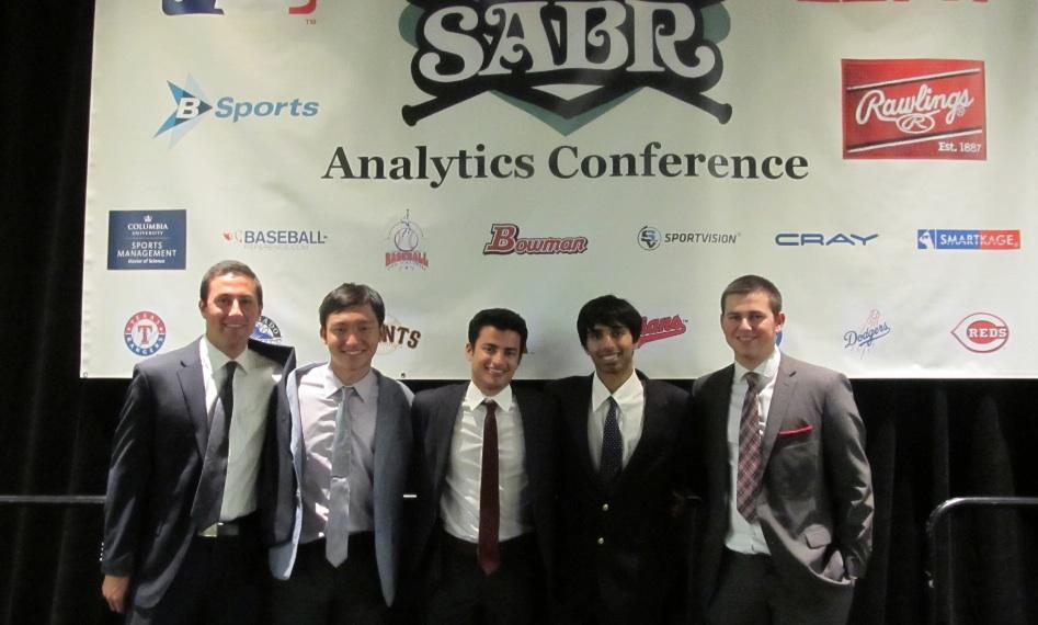 From left, Alec Powell, Do-Hyoung Park, Jordan Wallach (captain), Vihan Lakshman, and Avner Kreps.