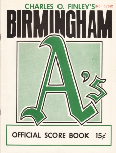 1967 Dixie Series scorebook