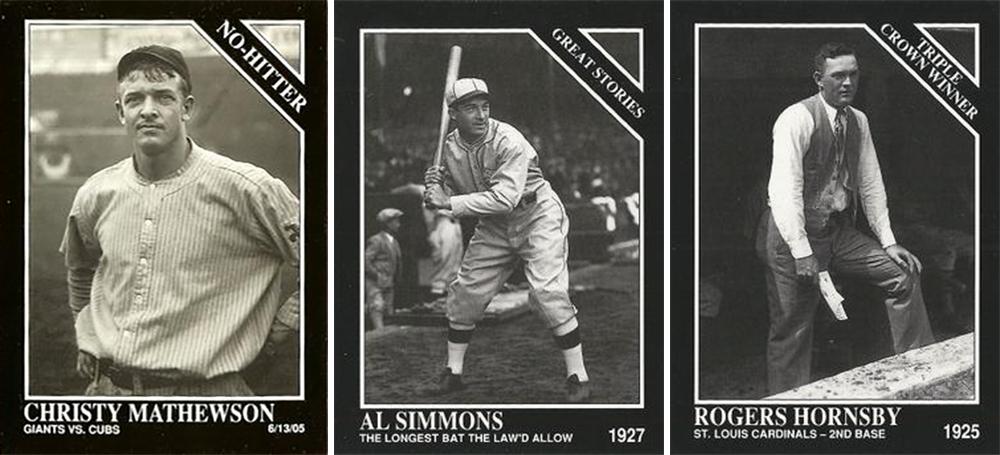 1992 TSN Conlon cards: Christy Mathewson, Al Simmons, Rogers Hornsby